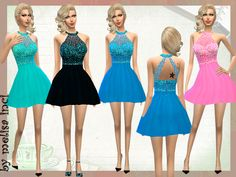 The Sims Resource: Short Embellished DresS by Melissa_Inci • Sims 4 Downloads