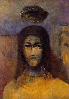 Odilon Redon - Mysterious Head