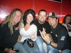Mike and Angie from Full Throttle... best DJ  in KC, Johnny Dare... and Jesse James Dupree from Jackyl!  Puh-POW!