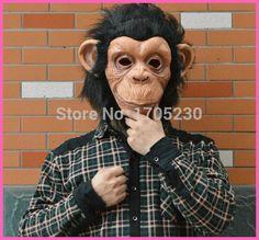 Aliexpress.com: Comprar Envío gratis 5 unids/lote 2015 de látex el gorila mono grande oreja máscara con pelo máscaras de animales dragonball mono rey máscara Comic Lite de Máscaras fiable proveedores en Happy Shopping, Happy Feeling