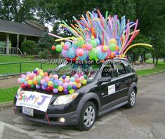 Was invited to decorate my car for a parade. the Polka Dot Link-O-Loons made all the difference.     www.sammyjballoons.com