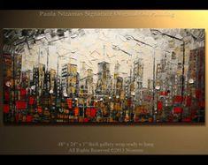 48 listo para colgar ORIGINAL abstracto contemporáneo por Artcoast