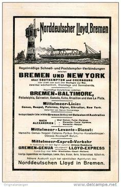 Original-Werbung/Inserat/ Anzeige 1911 - NORDDEUTSCHER LLOYD BREMEN  - ca. 120 x 200 mm