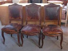 lovely french leather chairs~