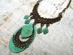 Patina gypsy Bohemian necklace Bohemian by Gypsymoondesigns, $42.00