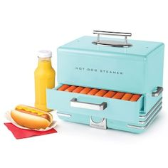 Get the family together and steam hot dogs and buns to delicious perfection in minutes with this Nostalgia Electrics hot dog steamer. Aqua Kitchen, Kitchen Dining, Camper Hacks, D House, Glam House, Cord Storage, Snow Cones, Small Kitchen Appliances, Kitchen Gadgets