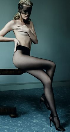 Caroline Winberg (channelling Kim Basinger) for Wolford by Mario Testino.