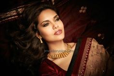 Esha Gupta for Ddamas Jewellery sizzling red Photos - Latest Jewellery Designs