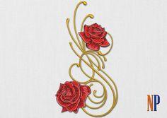 conception Roses machine à broder