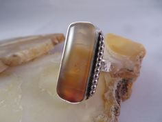 """This is """"Tequila Sunrise"""" (part 2) with a twist, size 6 1/4 and numbered 431, by Sandy River Jewelry"""
