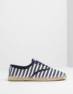 Pull&Bear - mujer - zapatos mujer - esparteña acordonada marinera - marino - 15020311-I2014