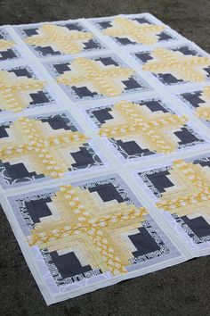 Rectangle Log Cabin Quilt tutorial