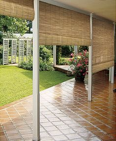 8 Stupendous Diy Ideas: Old Wooden Blinds outdoor blinds front doors.Old Wooden Blinds ikea blinds child safety.Outdoor Blinds How To Build. Outdoor Blinds, Outdoor Rooms, Outdoor Gardens, Outdoor Living, Outdoor Decor, Indoor Outdoor, Outdoor Bamboo Shades, Indoor Bamboo, Outdoor Curtains