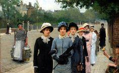 School Girls ~ Sir George Clausen ~ (British: 1852-1944)