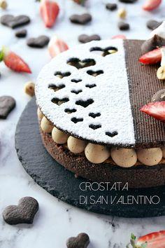 Cake Cookies, Cupcake Cakes, Creme Frangipane, Chocolate Garnishes, Modern Cakes, Valentines Day Cakes, Caramel Pecan, Fancy Desserts, Brownie Cake