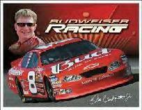 Dale Earnhardt Jr #8, Budweiser Chevy Racing Tin Metal Sign