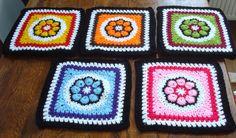 patroon granny met bloem