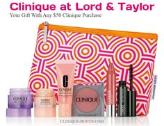 """A """"new"""" complimentary Clinique gift at Lord and Taylor - yours with any $50 purchase. No promo code needed."""