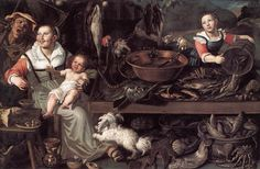 Vincenzo Campi (1536-1591) Fishmongers Oil on canvas 1580 Pinacoteca di Brera (Milan, Italy) Added: 2005-03-22 00:00:00