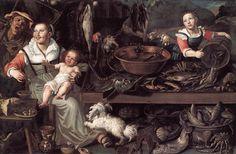 Vincenzo Campi (1536-1591) Fishmongers Oil on canvas 1580 Pinacoteca di Brera (Milan, Italy) Added: 2005-03-22 00:00:00