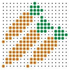 Carrots perler bead pattern Perler Beads Instructions, Activities For Kids, Crafts For Kids, School Themes, Perler Patterns, A Blessing, Fine Motor Skills, Fruits And Veggies, Bead Art