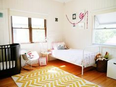 Eva & Owen's Shared Bedroom & Playroom — Nursery Tour   Apartment Therapy