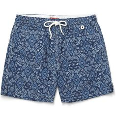 Isaia Paisley-Print Mid-Length Swim Shorts | MR PORTER