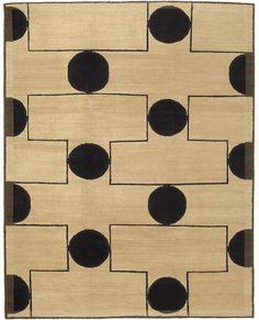 Pinball Blonde: Nepalese wool carpet.