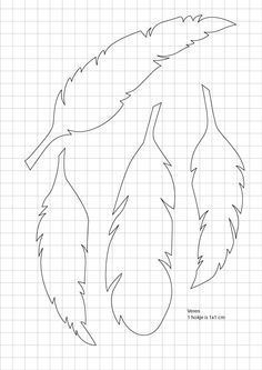 paper feathers template - Google Search                                                                                                                                                                                 More