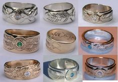 Medicine wheel rings