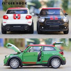 128 mini cooper car model pull back diecast metal alloy electronic car toy boy