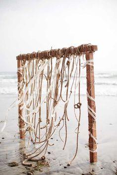 Rustic Beach Wedding Ceremony Arch