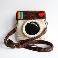 Crochet Instagram Purse Love IG Original Color by Meemanan