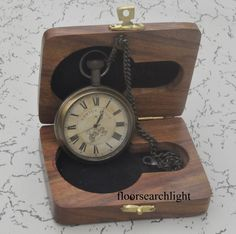 Spirited Maritime Push Button Pocket Nautical Compass With Brown Wooden Box Online Shop Maritime Antiques