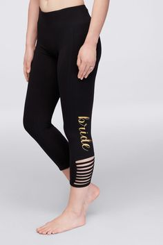 Bride Leggings with Ankle Cutouts - Black, S