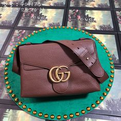 f000f96c8e6 Gucci 401173 Gucci GG Marmont Leather Shoulder Bag – Bag Bella