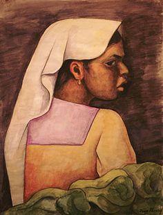 diego rivera- Girl with White Veil