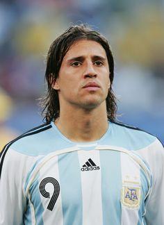 Hernan Crespo del Inter de Milan y de la Selección Argentina.