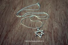 Star Of David  Jewish Star Necklace  Silver by TwoFeathersJewelry, $38.95
