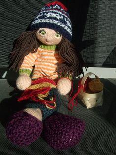 Arne & Carlos knitted doll