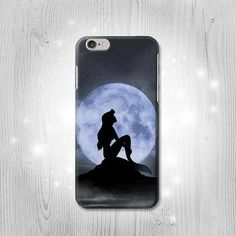 Little Mermaid Silhouette Moon Night iPhone 6S 6 Plus 6 5 5S 5C 4 4S Htc One M8 M7 X Samsung Galaxy S6 Edge+ S5 S4 S3 mini Note 5 4 3 2 Case