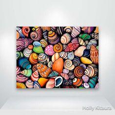 Spiaggia conchiglie Fine Art Giclée Print di HollyvisionArt