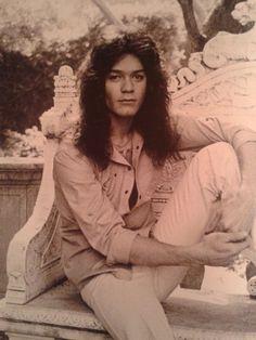 Very early promotional shot of Eddie Van Halen 1977
