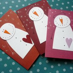 Christmas Crafts For Kids To Make, Christmas Activities For Kids, Christmas Paper Crafts, Diy Christmas Cards, Christmas Mood, Kids Christmas, Handmade Christmas, Diy Snowman Decorations, Christmas Decorations