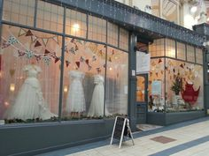 The Bridal Emporium window display December 2014 Wedding Dresses & Accessories