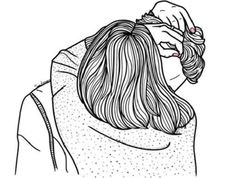 Image via We Heart It #art #blackandwhite #draw #drawing #hug #outlines #overlay #Relationship