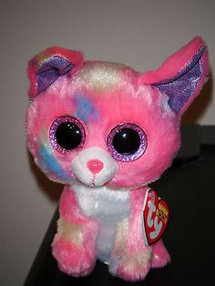 """Ty CANCUN ~ 6"""" Dog Beanie Baby Boos Boo's ~2013 NEW Sparkly Eyes & RED HEART TAG"""