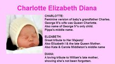 princess charlotte elizabeth diana | Princess Charlotte Elizabeth Diana: Daughter of Prince William and ...