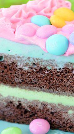 M&M Ice Cream Cake