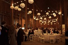 Best Diy Wedding Decorations For Reception Ceilings Paper Lanterns Ideas Indoor Wedding, Farm Wedding, Rustic Wedding, Dream Wedding, Wedding Barns, Wedding Pom Poms, Wedding Reception Lighting, Wedding Venues, Wedding Ideas